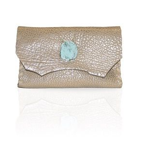 Marie Wallet/Clutch in Distressed Silver